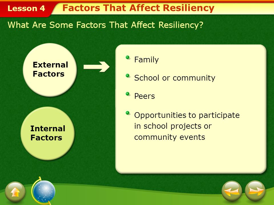 Factors That Affect Resiliency