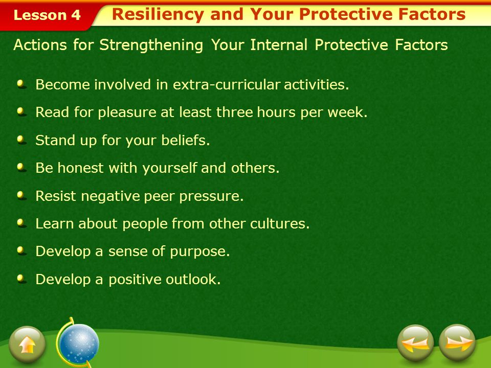 Resiliency and Your Protective Factors