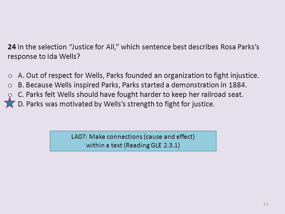 D. Parks was motivated by Wells's strength to fight for justice.