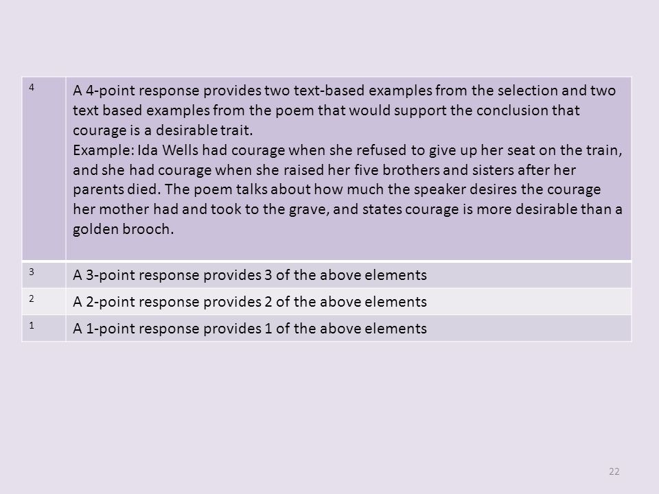 A 3-point response provides 3 of the above elements