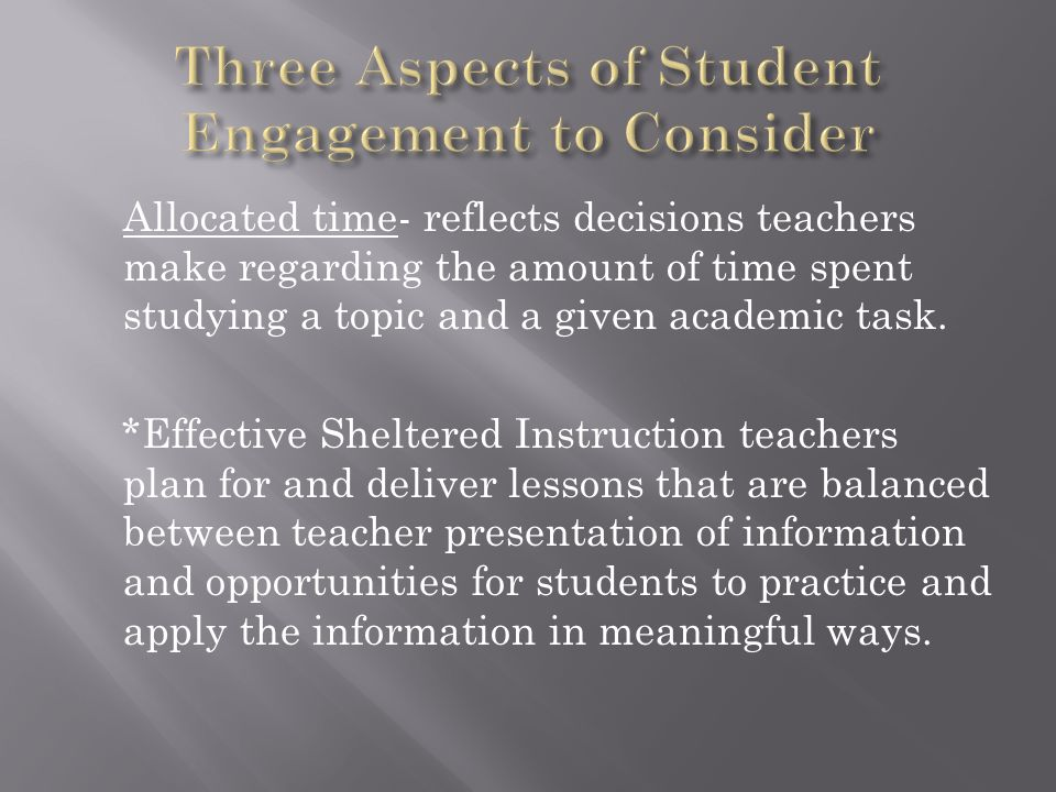 Three Aspects of Student Engagement to Consider