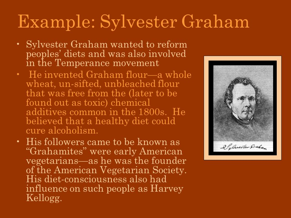 Example: Sylvester Graham