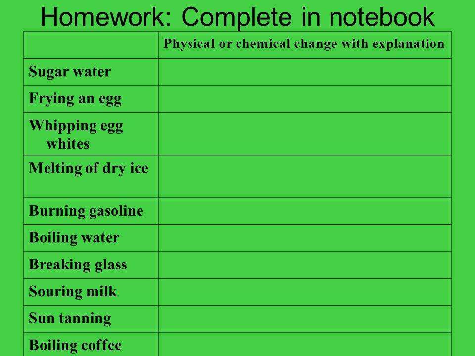 Homework: Complete in notebook
