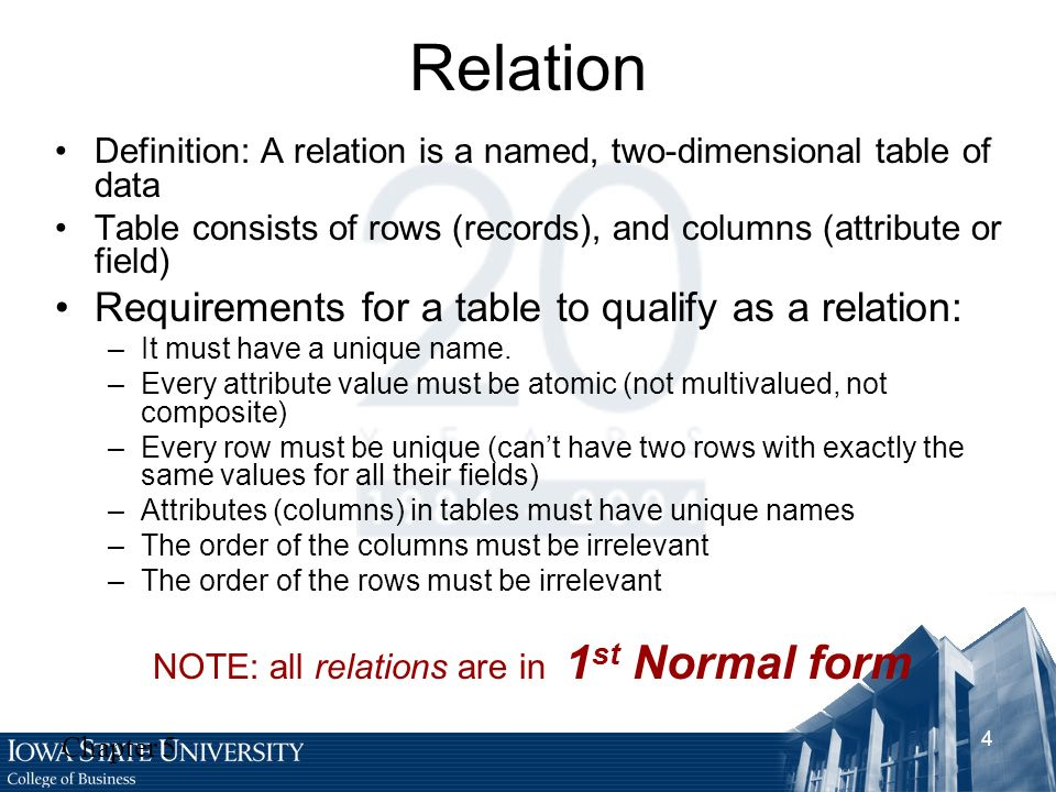 Chapter 5: Logical Database Design and the Relational Model - ppt ...