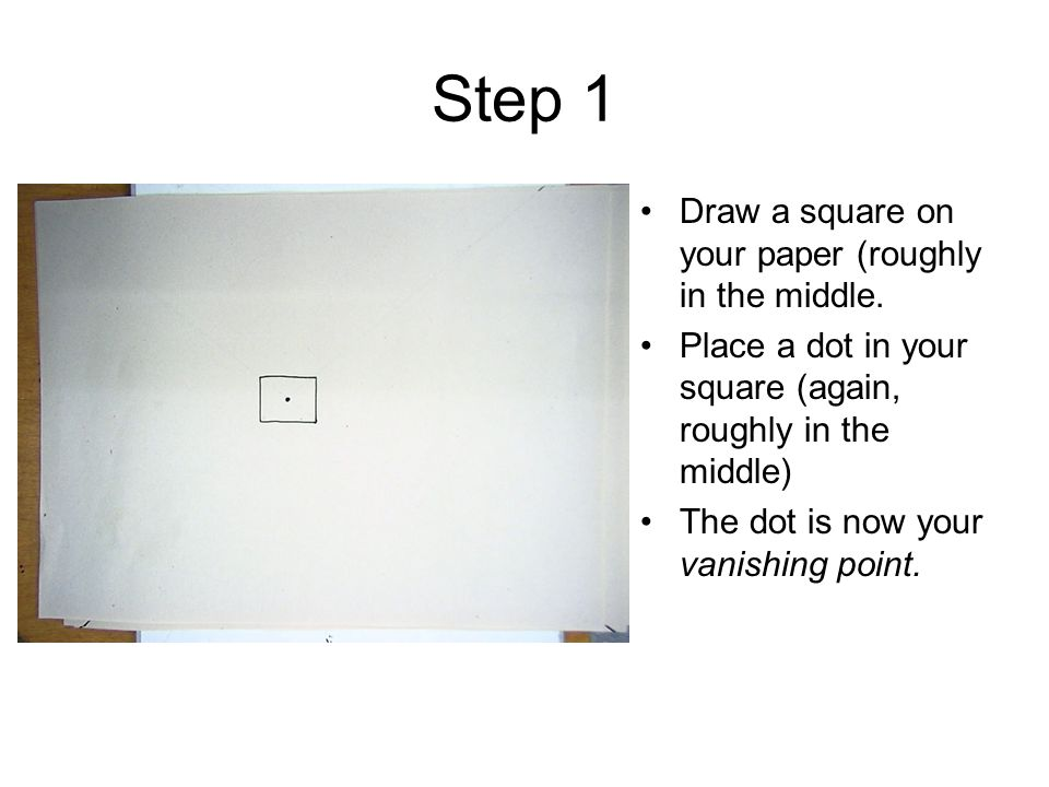 Step 1 Draw a square on your paper (roughly in the middle.