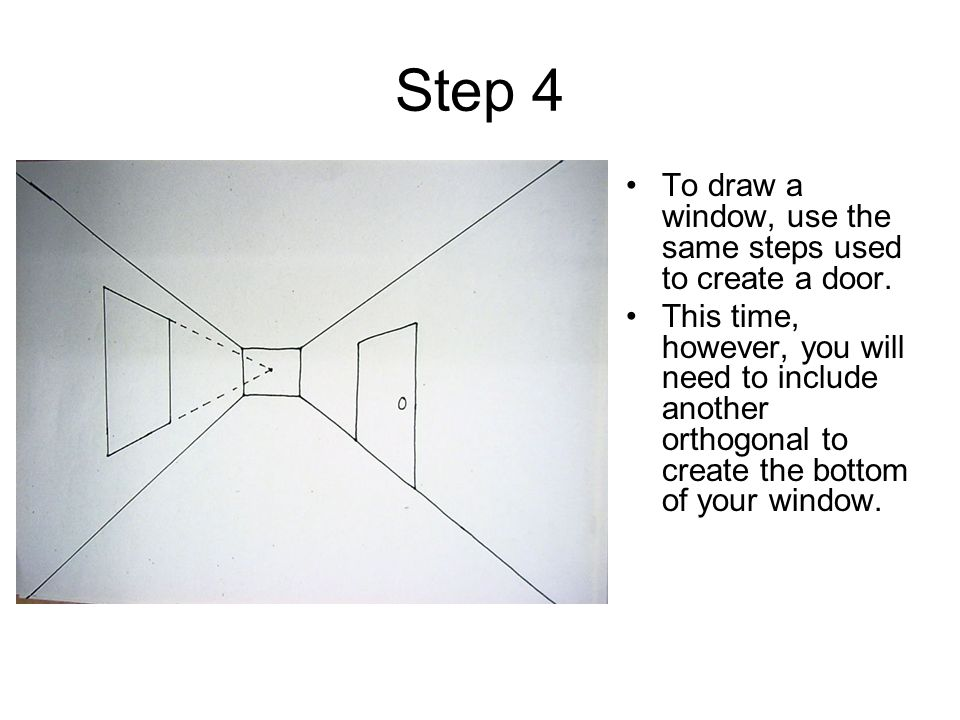 Step 4 To draw a window, use the same steps used to create a door.