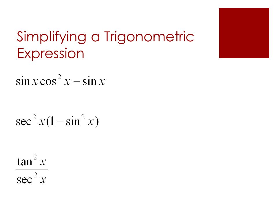 Simplifying a Trigonometric Expression