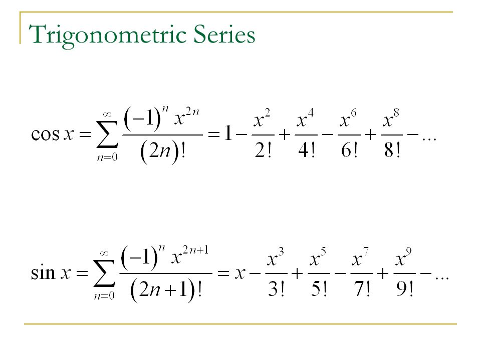 Trigonometric Series