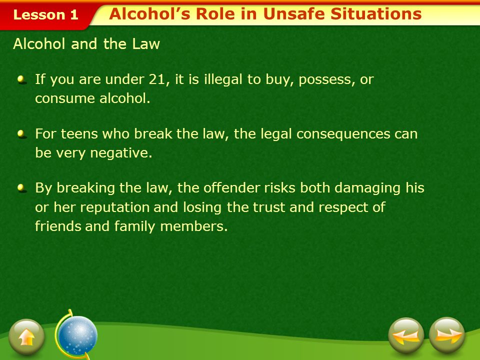 Alcohol's Role in Unsafe Situations