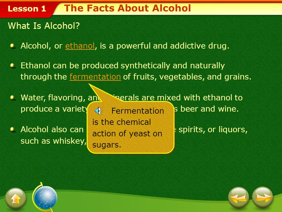 The Facts About Alcohol