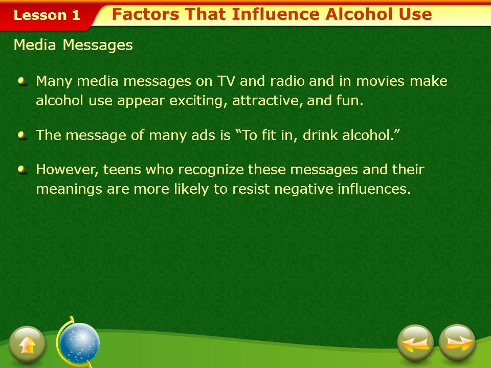 Factors That Influence Alcohol Use