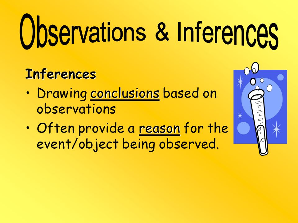 Observations & Inferences