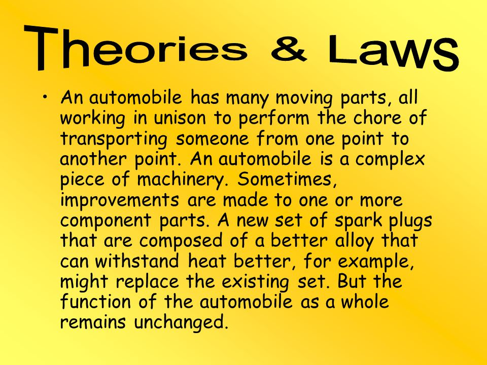 Theories & Laws