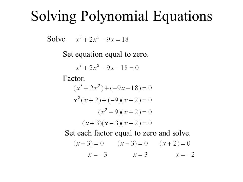 Solving Polynomial Equations