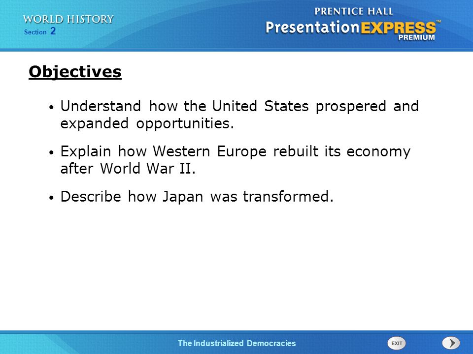 Objectives Understand how the United States prospered and expanded opportunities.