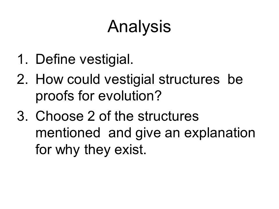 Analysis Define vestigial.