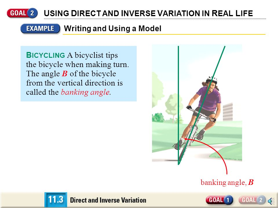 USING DIRECT AND INVERSE VARIATION IN REAL LIFE
