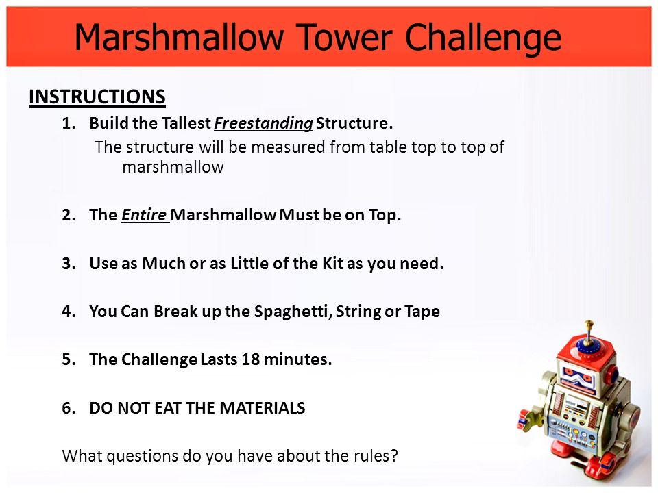 Marshmallow Tower Challenge