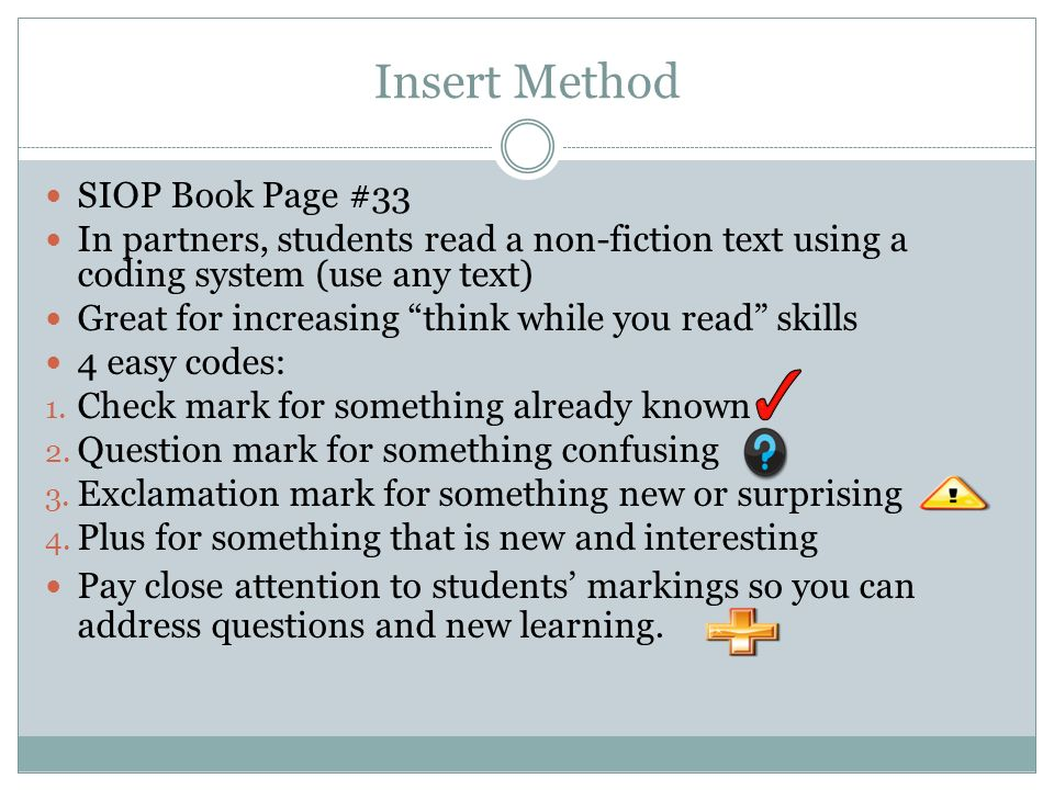 Insert Method SIOP Book Page #33