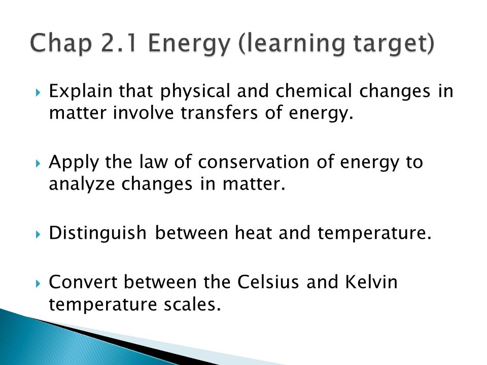 Chap 2.1 Energy (learning target)