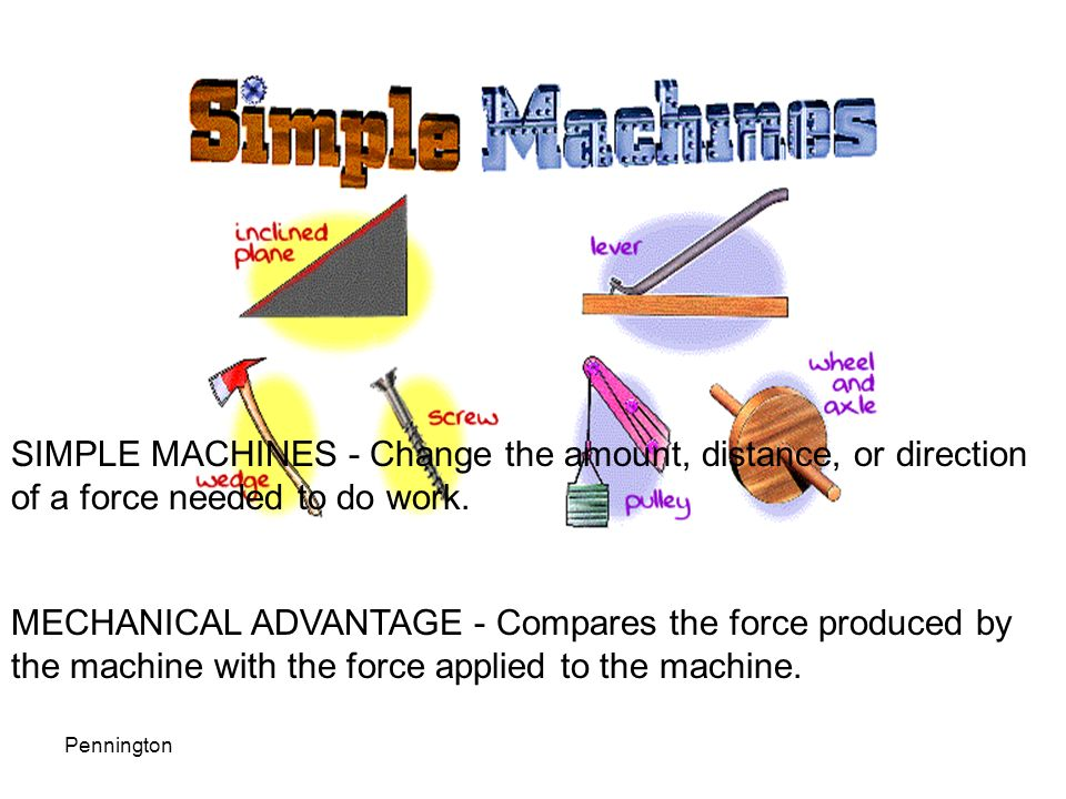 simple machine After you have completed these activities you will be able to more easily identify your use of simple machines to accomplish work.
