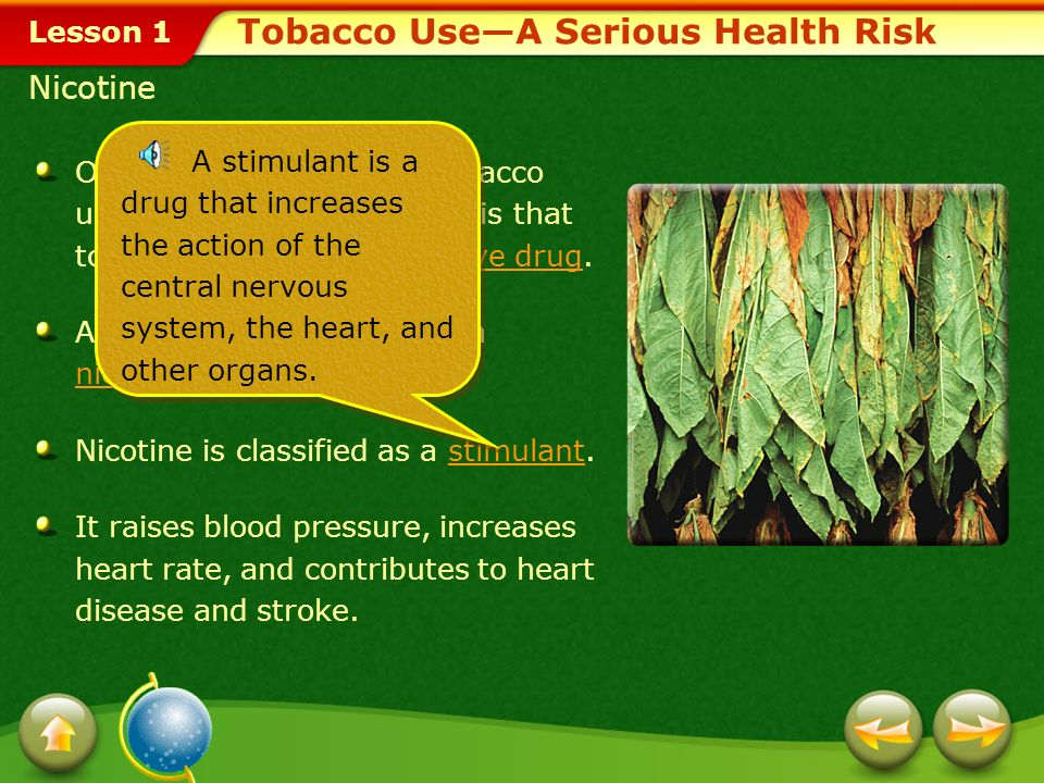 Tobacco Use—A Serious Health Risk