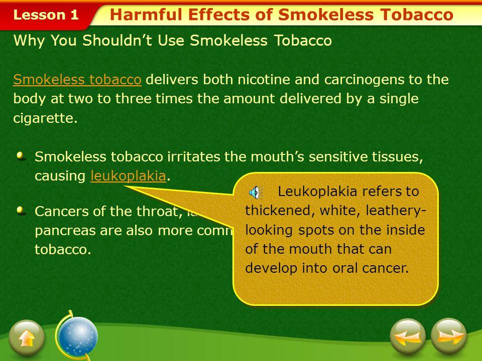 Harmful Effects of Smokeless Tobacco