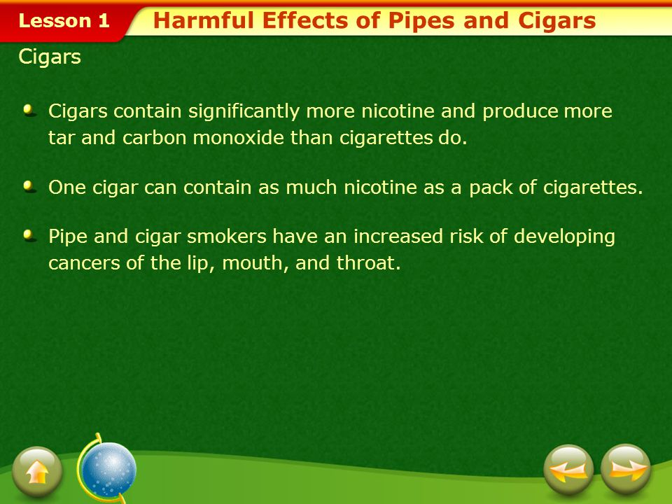 Harmful Effects of Pipes and Cigars