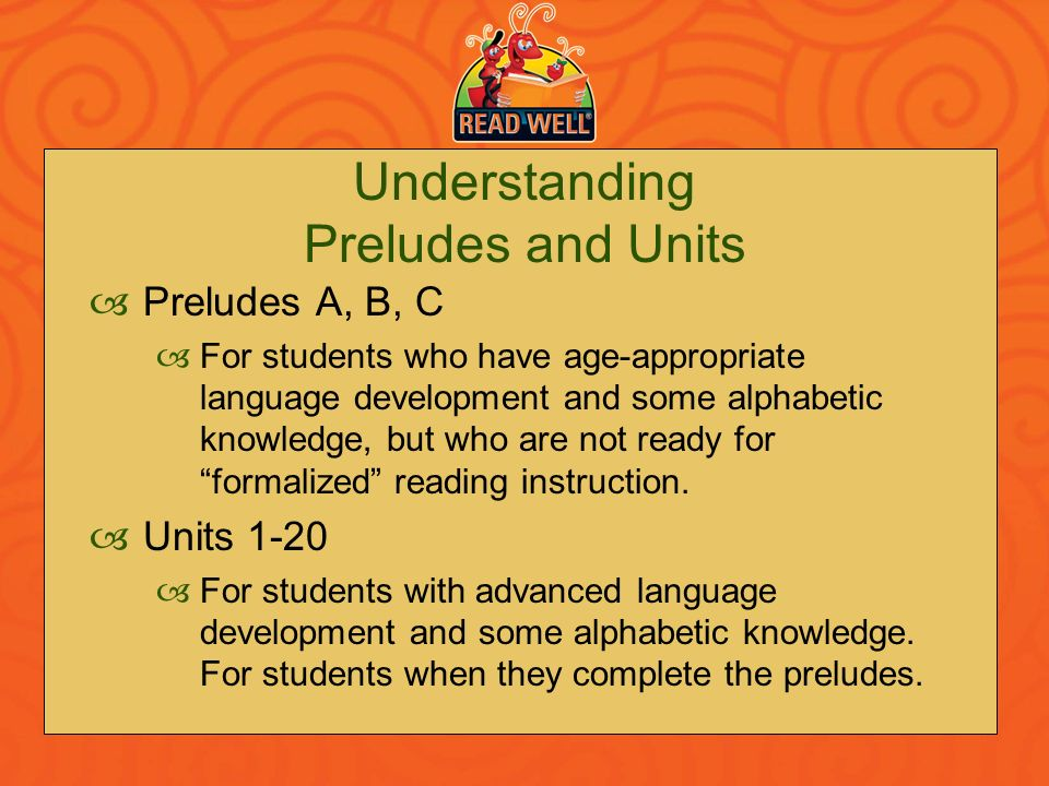 Understanding Preludes and Units