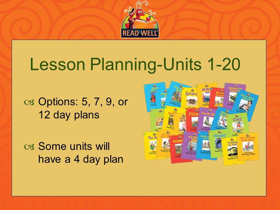Lesson Planning-Units 1-20