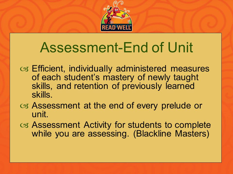 Assessment-End of Unit