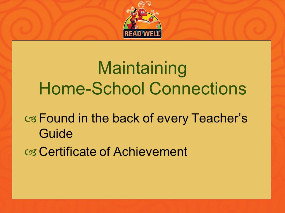 Maintaining Home-School Connections