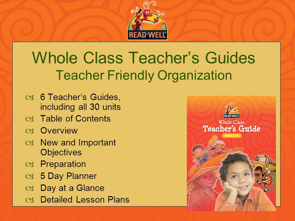 Whole Class Teacher's Guides Teacher Friendly Organization