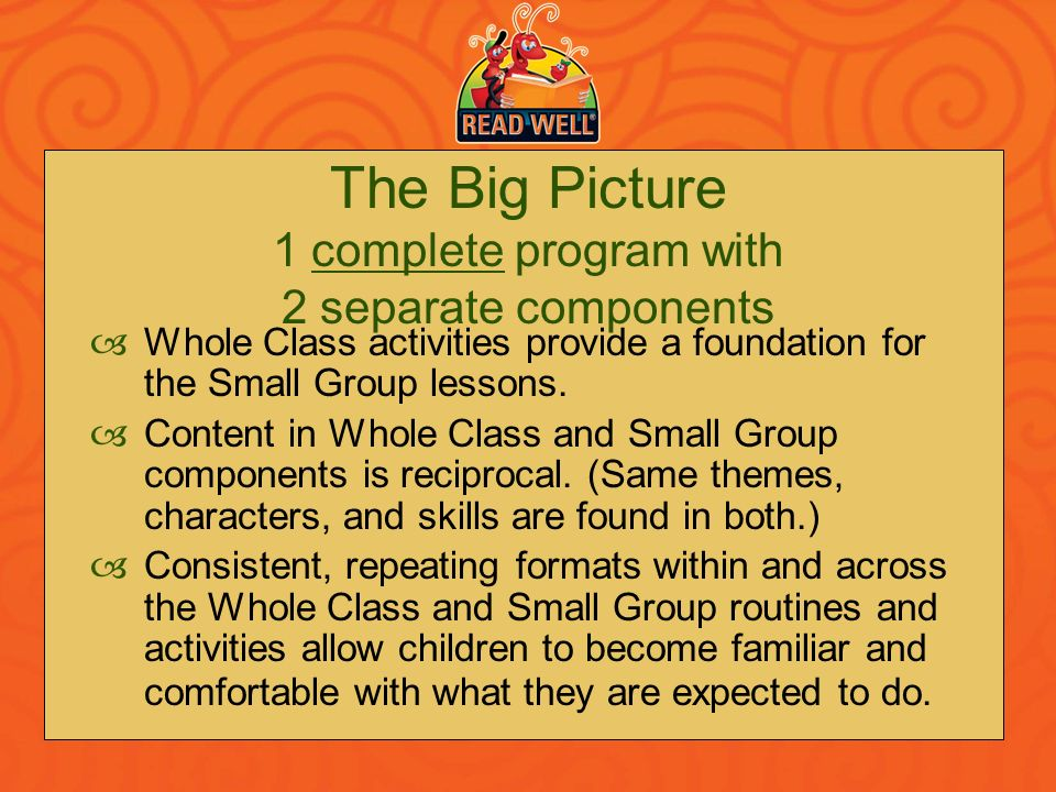 The Big Picture 1 complete program with 2 separate components