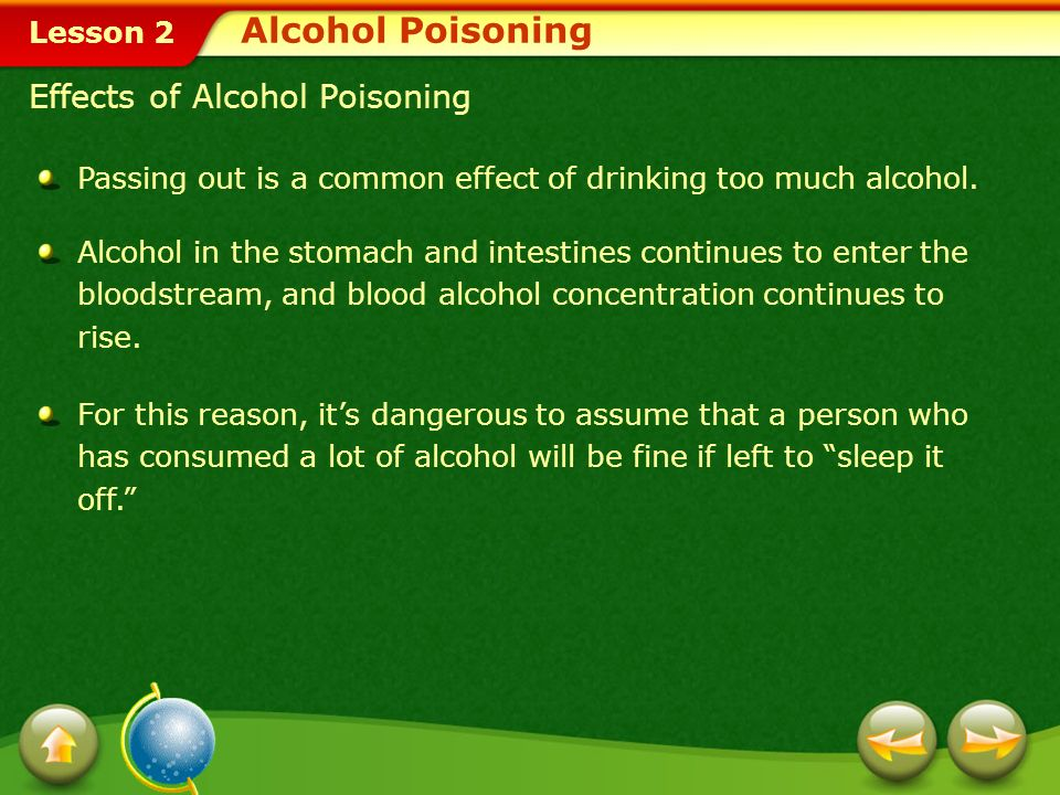 Alcohol Poisoning Effects of Alcohol Poisoning