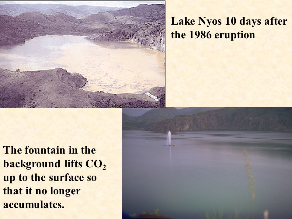 Lake Nyos 10 days after the 1986 eruption