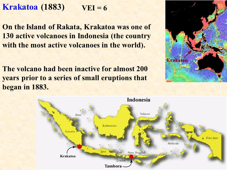 Krakatoa (1883) VEI = 6.