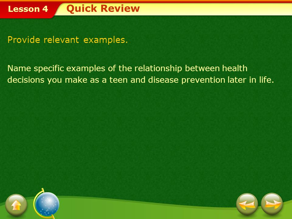 Quick Review Provide relevant examples.