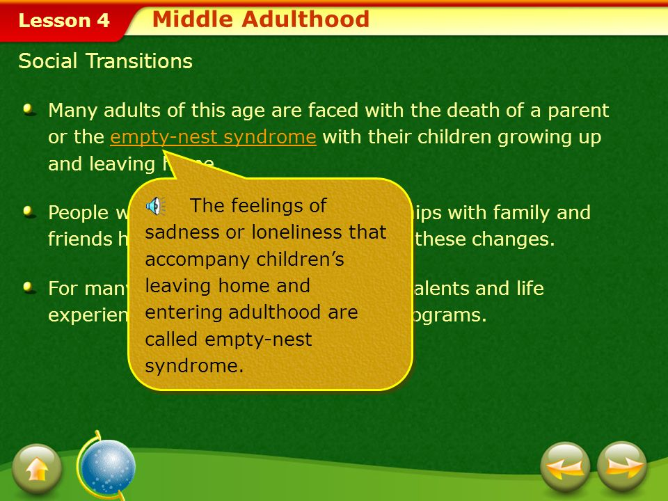 Middle Adulthood Social Transitions