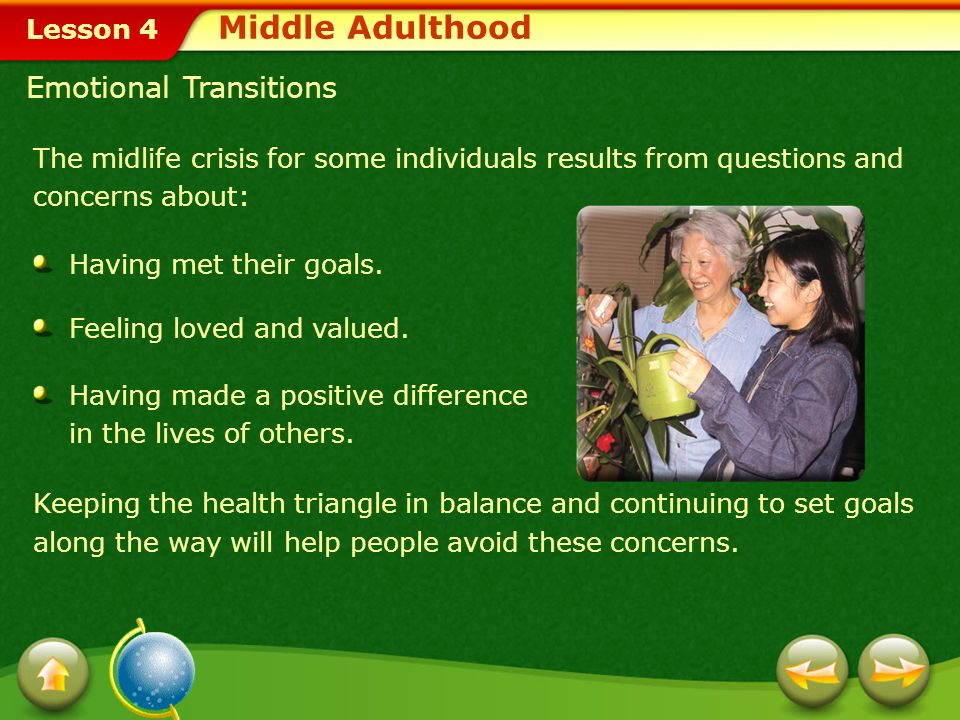 Middle Adulthood Emotional Transitions