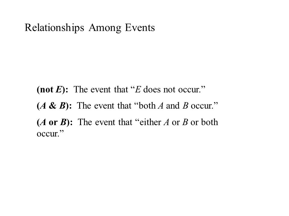 Relationships Among Events