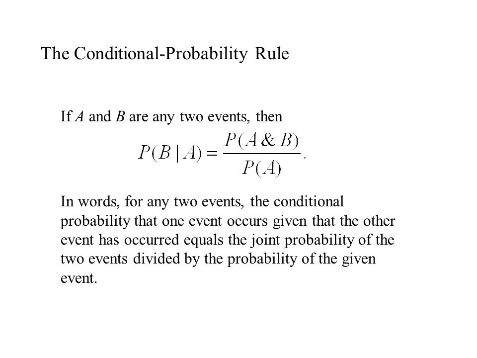 The Conditional-Probability Rule