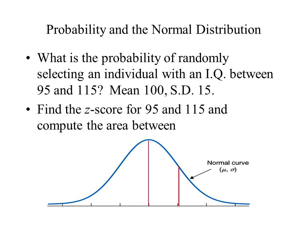 Probability and the Normal Distribution