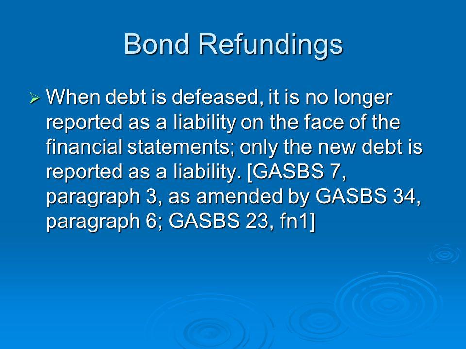 Bond Refundings