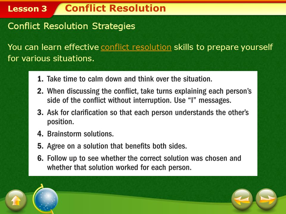 Conflict Resolution Conflict Resolution Strategies