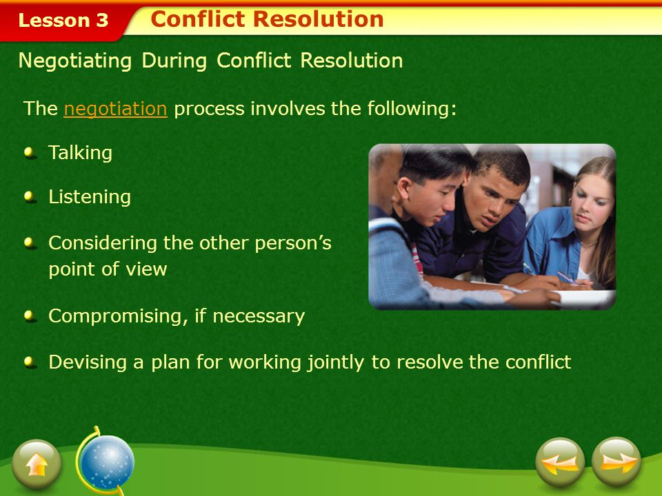 Conflict Resolution Negotiating During Conflict Resolution