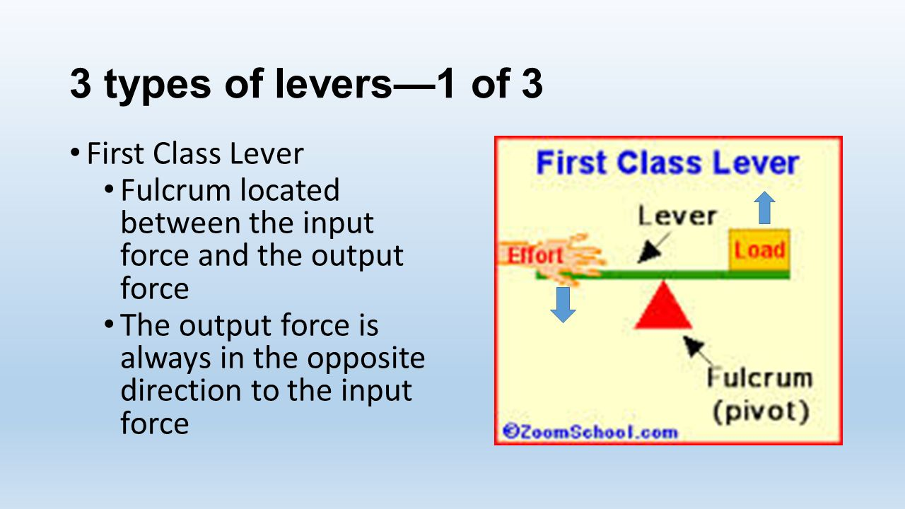 Lever Input And Output Force : Simple machines physical science ppt video online