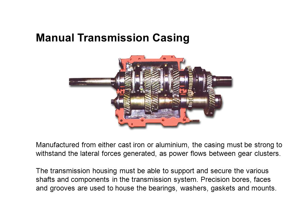 Manual Transmission Components And Operation Ppt Video