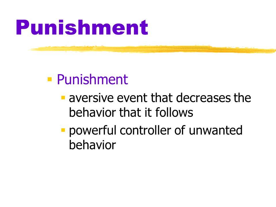 Punishment Punishment