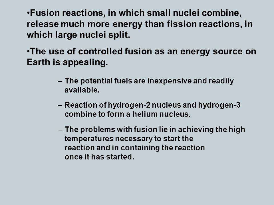 Fission and Fusion Nuclear Fission - ppt video online download